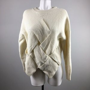 & Other Stories Ivory Knit Lattice Weave Sweater